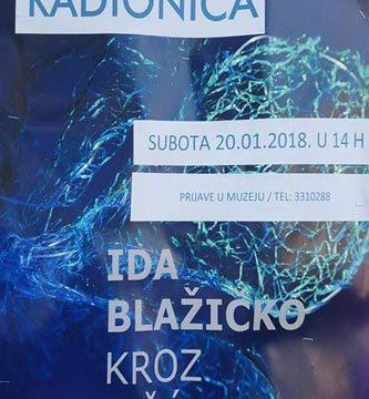 Workshop held by artist Ida Blažičko